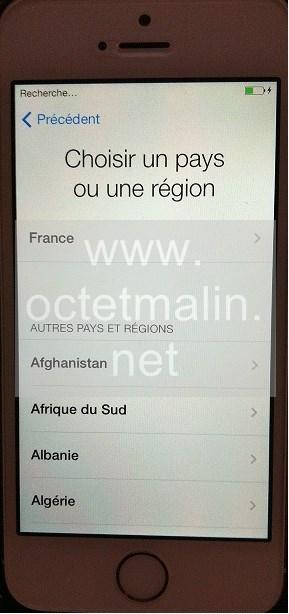 changer langue iphone