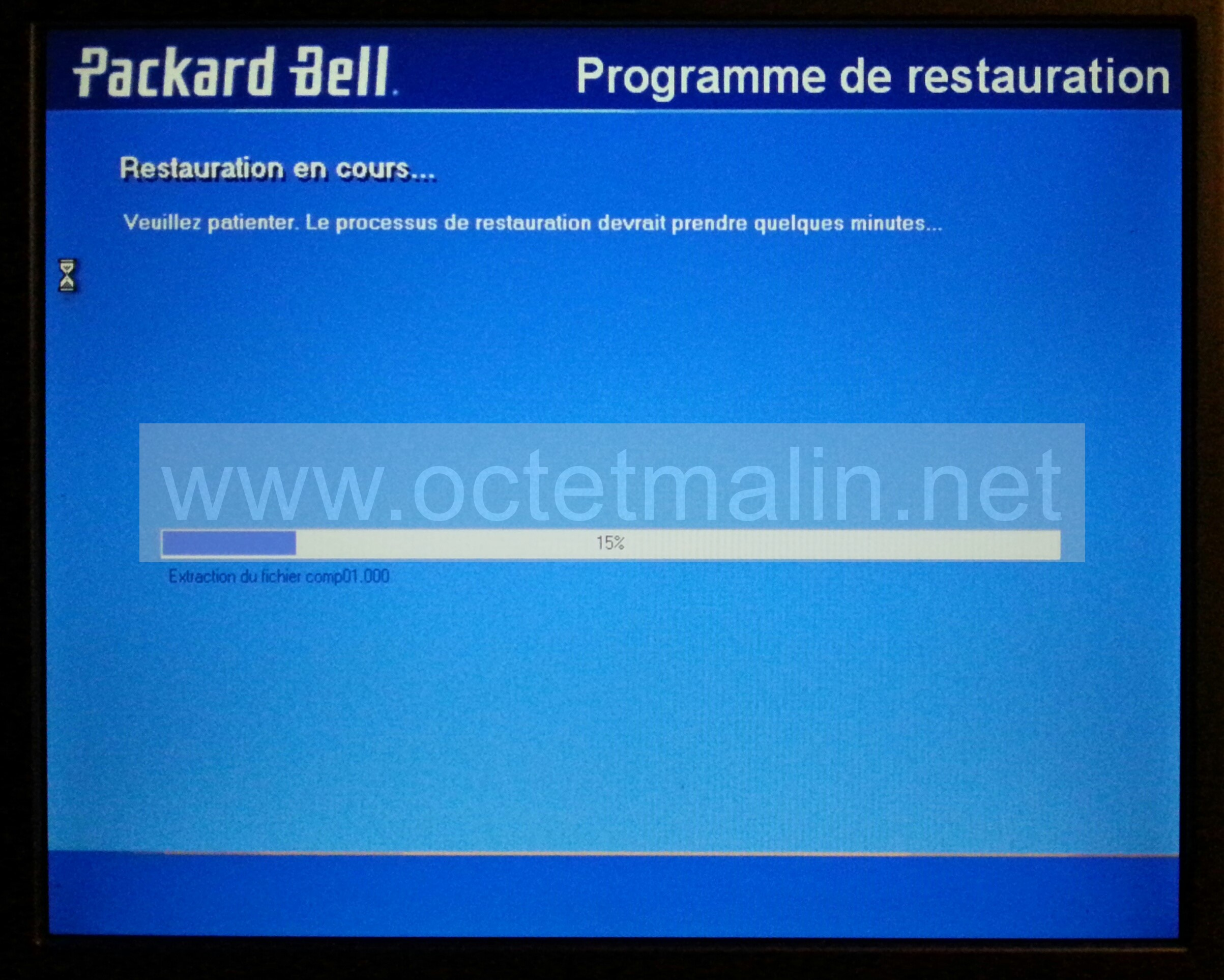 Restaurer Windows  Packard Bell