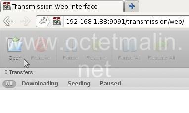 Transmission - Installation et configuration d'un client