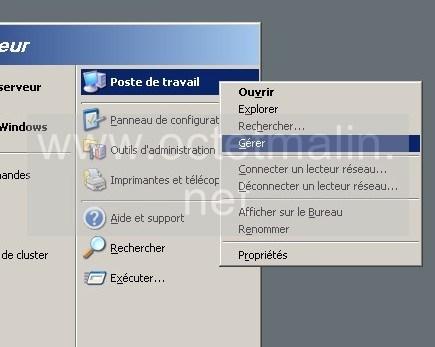 windows server 2003 tutoriel pour mettre un mot de passe administrateur www octetmalin net